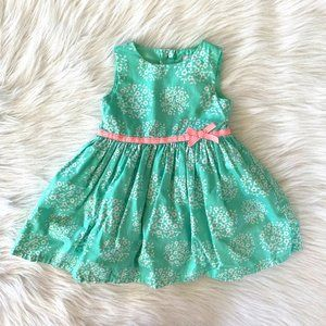 Just One You by Carters Tiffany Blue Floral Dress